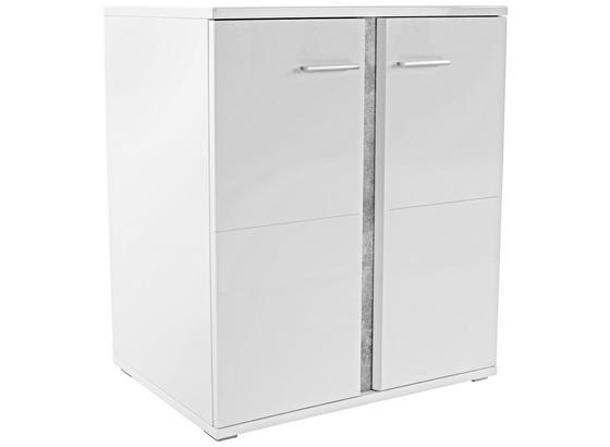 Komoda Köln 2 - sivá/biela, Moderný, kompozitné drevo (90/90/45cm)