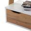 Regál Flo Wotan/bílá - bílá/barvy dubu, Moderní, kompozitní dřevo (65/176/34,2cm)