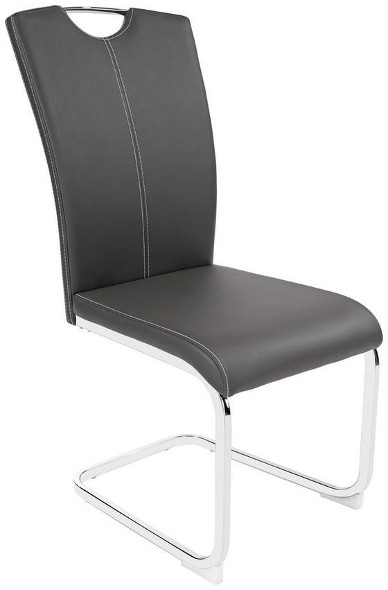 Houpací Židle Conny - šedá/bílá, Moderní, kov/textil (42,5/96,5/59cm)