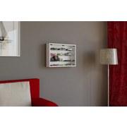 Hängevitrine Mandosa M B: 60 cm Weiß Dekor - Transparent/Weiß, KONVENTIONELL, Glas/Holzwerkstoff (60/40/10cm)