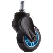 Drehstuhlrolle Blade Wheel D:7,5cm Blau-Schw. - Blau/Schwarz, MODERN, Kunststoff/Metall (7,5cm) - Dxracer