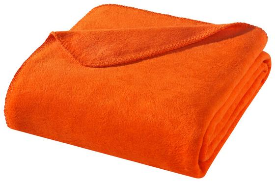 Wohndecke Hani 150x200 cm - Orange, MODERN, Textil (150/200cm)