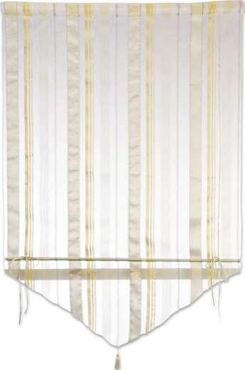Vitrázsfüggöny Milou - barna/fekete, konvencionális, textil (100/140cm) - OMBRA