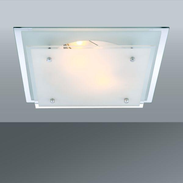 Stropná Lampa Adam - Konvenčný, kov/pohár (33.5/33.5/7.5cm)