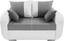 Zweisitzer-Sofa Faro - Chromfarben/Hellgrau, KONVENTIONELL, Holz/Textil (150/90/92cm)