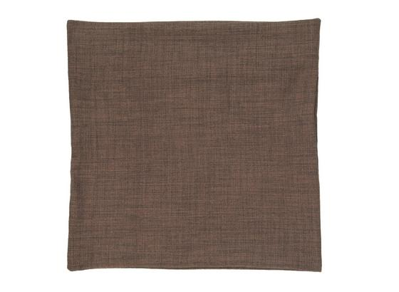 Poťah Na Vankúš Vzhľad Ľanu - tmavohnedá, textil (50/50cm) - Premium Living