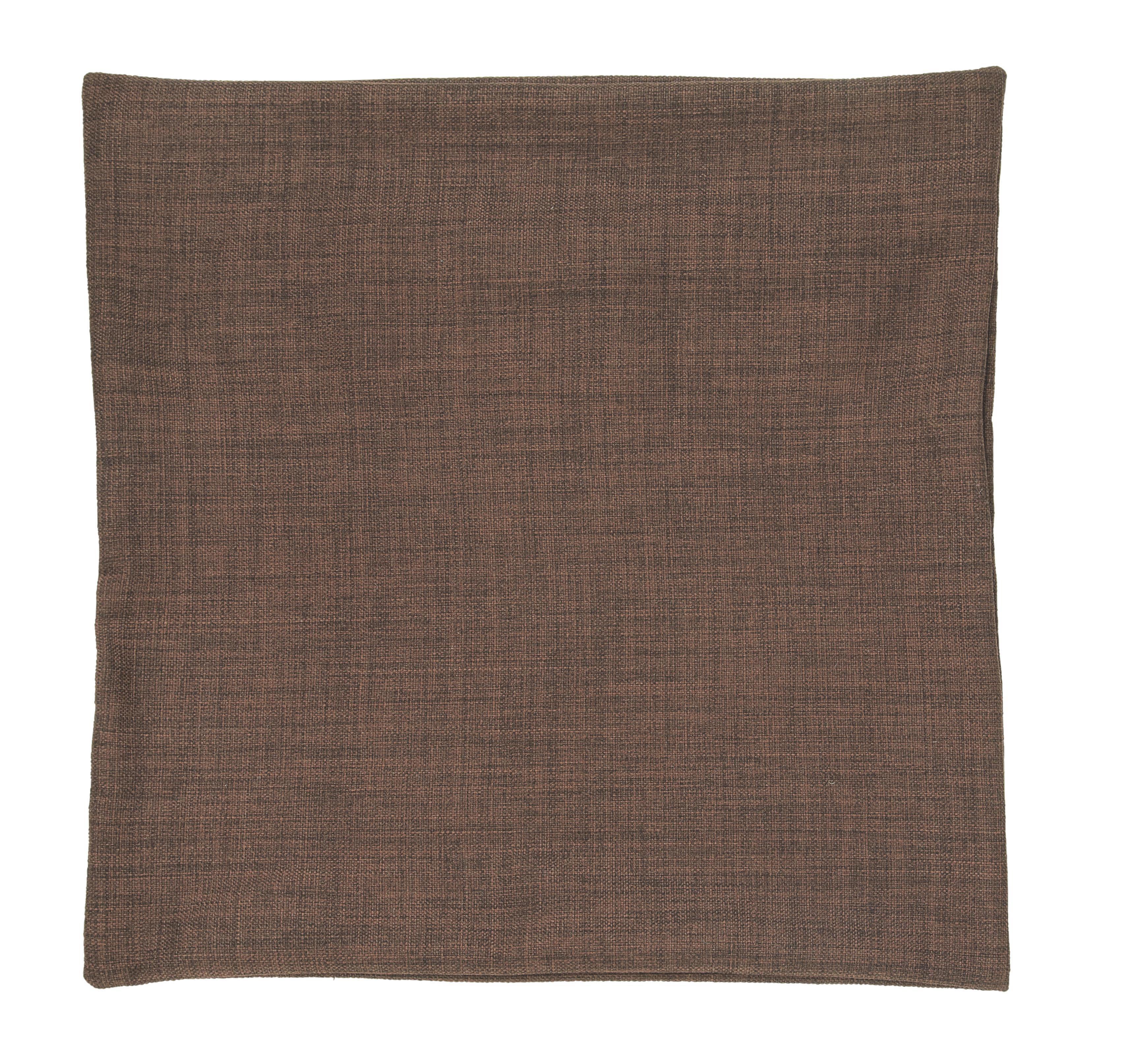 Povlak Na Polštář Vzhľad Ľanu - tmavě hnědá, textil (50/50cm) - PREMIUM LIVING