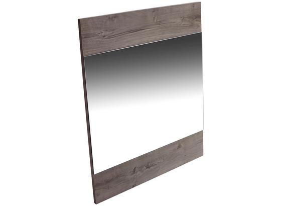 Zrkadlo Monza New - tmavohnedá, Moderný, kompozitné drevo/sklo (80/86/2cm)