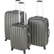 Reisekofferset Jumbo - Anthrazit, KONVENTIONELL, Kunststoff/Textil - LUCA BESSONI