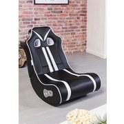 Gamingstuhl Ninja B: 56 cm Schwarz/Weiß - Schwarz/Weiß, Design, Textil (56/100/82cm) - Carryhome