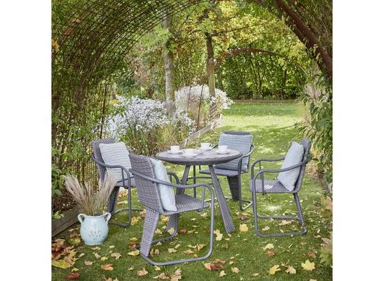 Záhradný Set Christina - sivá, Moderný, kov/plast - Modern Living