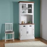 Kredenc Melanie - farby borovice/biela, Moderný, drevený materiál/drevo (86/207,5/40cm) - Mömax modern living