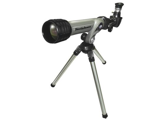 Astronomisches Teleskop inkl. Stativ - Silberfarben/Schwarz, MODERN, Kunststoff/Metall (45/20/45cm)