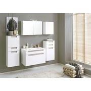 Waschtischkombi mit Soft-Close Siena B: 80cm, Weiß + Eiche - Weiß, MODERN, Holzwerkstoff/Kunststoff (80/54/47cm)