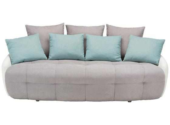 Mega Pohovka Macaron - bílá/světle šedá, Moderní, textil (233/80/142cm) - Modern Living