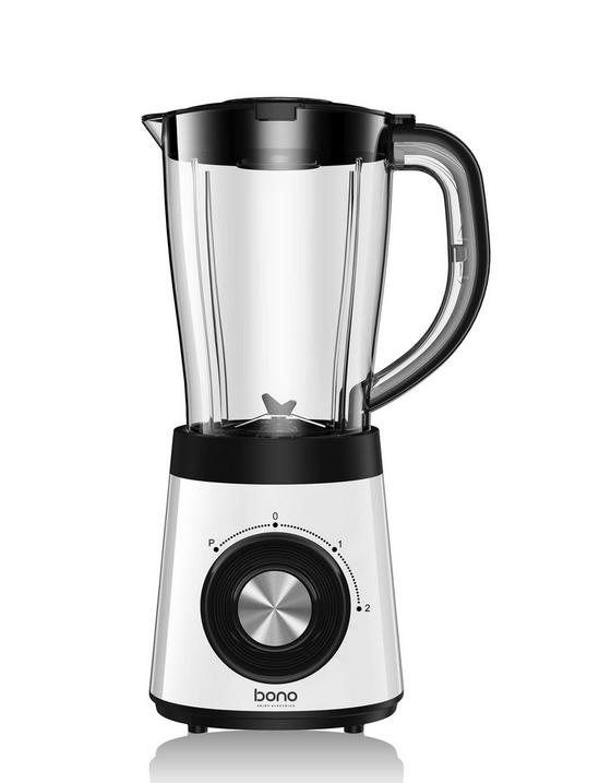 Standmixer Petros - Transparent/Schwarz, MODERN, Kunststoff/Metall (21,2/16,8/37,7cm) - Bono