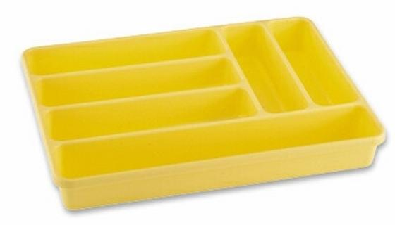 Besteckbox Rom - Blau/Weiß, KONVENTIONELL, Kunststoff (26/5/36cm)