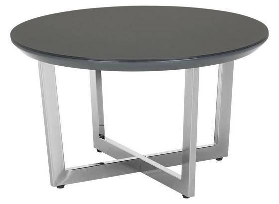 Konferenčný Stolík Oprah - sivá/chrómová, Moderný, kov/kompozitné drevo (70/40cm) - Modern Living
