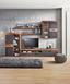 Obývacia Stena Tokio    *cenový Trhák* - farby dubu/čierna, Moderný, umelá hmota/kov (300/201/41cm) - Based