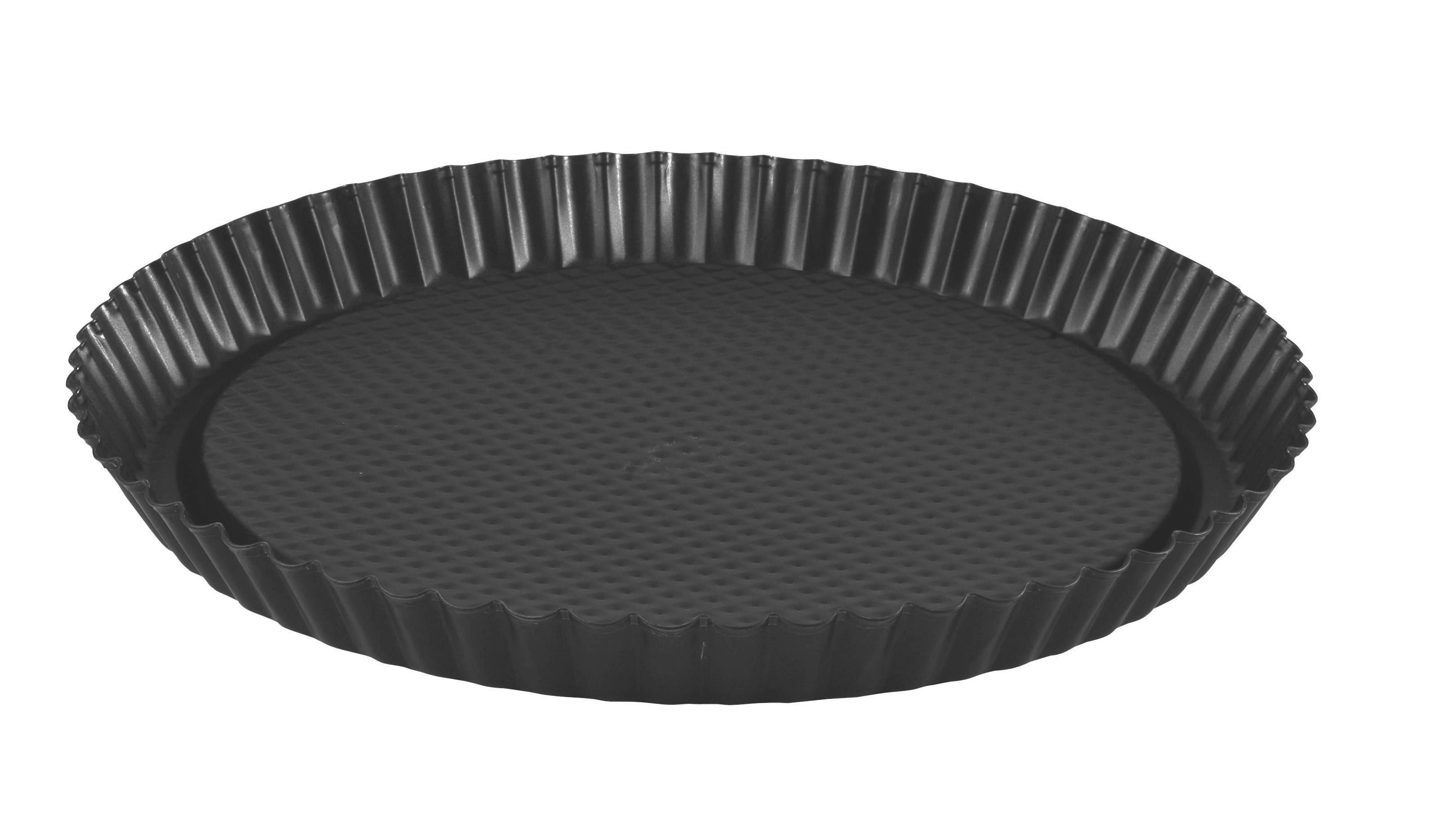 Gyümölcstorta Forma Teflon Bevonattal - fekete, konvencionális, fém (30/3cm)