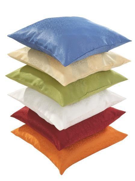 Párnahuzat Curl - sárga/borvörös, konvencionális, textil (50/50cm) - OMBRA