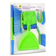 Reinigungsset Peter - Blau/Grün, Basics, Kunststoff/Textil (59/39/8cm) - Homezone