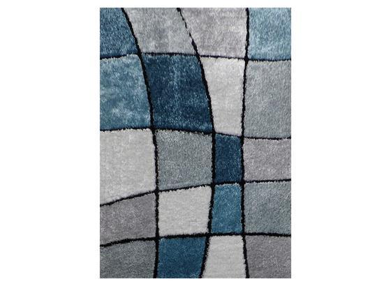 Koberec S Vysokým Vlasem Fancy 3 - šedá/modrá, Konvenční, textil (120/170cm) - Mömax modern living