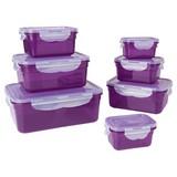 Frischhaltedose Gourmetmaxx Klick-It 14 Tlg - Lila, Basics, Kunststoff
