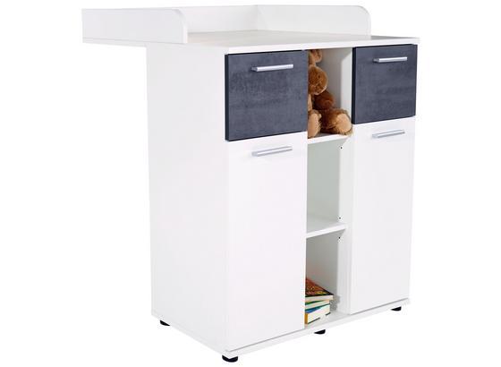 Prebaľovacia Komoda Star - biela/tmavosivá, Konvenčný, kompozitné drevo (89/100,9/78cm)