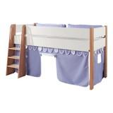 Spielvorhang 3-teilig Weiß/ Hellblau - Weiß/Hellblau, Design, Textil