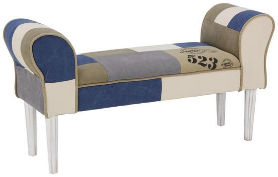 Šatní Lavice Leopold - bílá/šedá, Moderní, dřevo/textil (103/52/31cm) - Mömax modern living