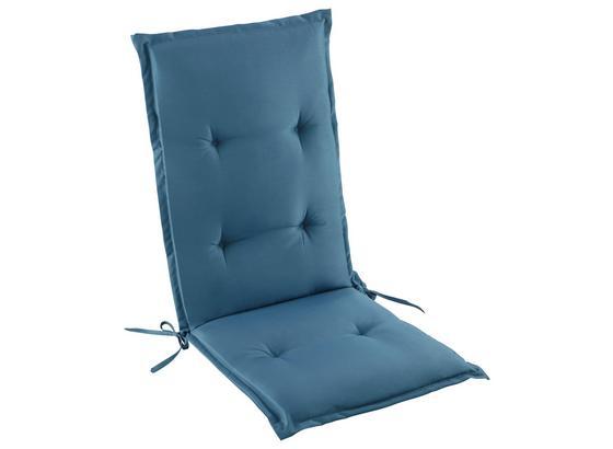 Vankúš Na Kreslo Poppi - modrá, textil (48/115/48cm) - Mömax modern living