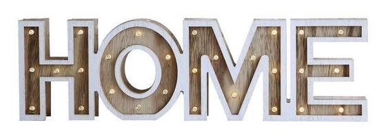 Svítidlo Dekorační Led Home - Romantický / Rustikální, dřevo (38/3,2/11cm)