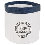 Aufbewahrungskörbchen Aliqua - Blau/Weiß, Basics, Papier (18/18cm) - Luca Bessoni