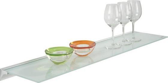 Glas- Wandboard Larry - Alufarben/Weiß, MODERN, Glas/Kunststoff (80/20/4,8cm)