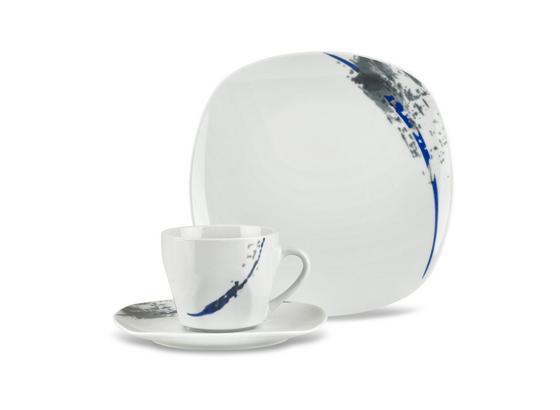 Kaffeeservice Patricia - Blau/Weiß, MODERN, Keramik - Luca Bessoni