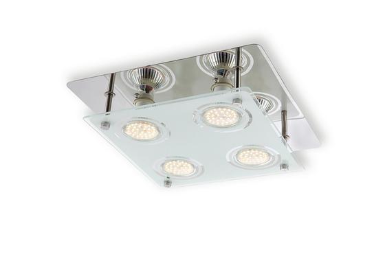 Mennyezeti Lámpa Ari - krómszínű, konvencionális, üveg/fém (26/26/7,5cm) - LUCA BESSONI