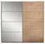 Schwebetürenschrank Orlando 215 cm Eiche/spiegel - Eichefarben/Bronzefarben, MODERN, Glas/Holzwerkstoff (215/210/60cm)