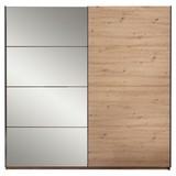 Skříň S Posuvnými Dveřmi Orlando - barvy dubu/bronzová, Moderní, kompozitní dřevo/sklo (215/210/60cm)