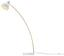 Stojací Lampa Nerea - bílá/přírodní barvy, Moderní, kov/dřevo (87/22/150cm) - Modern Living