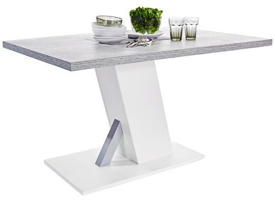 Jídelní Stůl Severin 138 - šedá/bílá, Moderní, kompozitní dřevo (138/76/90cm)