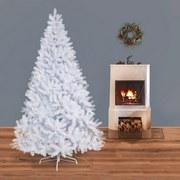 Weihnachtsbaum H: 210 cm Weiß - Weiß, Trend, Kunststoff/Metall (210cm) - X-Mas