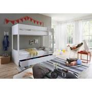 Bettkasten Luka L: 195 cm Buche/ Weiß - Weiß, Design, Holzwerkstoff/Kunststoff (195/93/17cm) - Livetastic