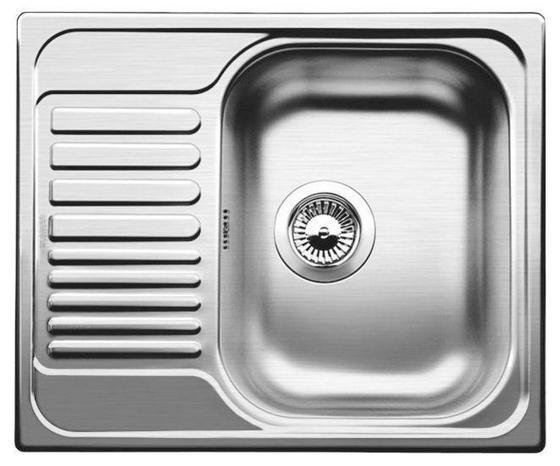 Spüle Blanco Tipo 45s Mini Edelstahl - Edelstahlfarben, KONVENTIONELL, Metall (60,5/17/50cm) - Blanco