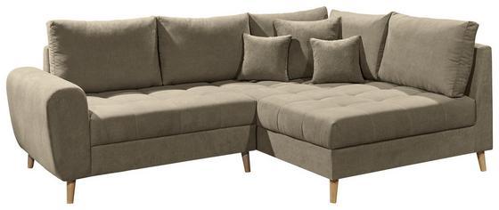 Eck-Sofa in Sandfarben