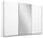 Schwebetürenschrank Belluno 271 cm Weiß/ Spiegel - Weiß, MODERN, Holzwerkstoff (271/210/62cm)