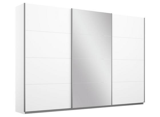 Schwebetürenschrank mit Spiegel 271cm Belluno, Weiß Dekor - Weiß, MODERN, Holzwerkstoff (271/210/62cm)