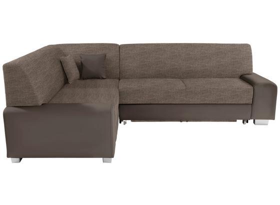 Sedacia Súprava Miami - hnedá/bahenná hnedá, Basics, drevo/textil (210/260cm)