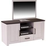 TV-Element Provence - Wengefarben/Weiß, ROMANTIK / LANDHAUS, Holzwerkstoff (153,9/63,9/42cm) - James Wood
