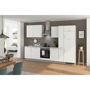 Küchenblock Turin 310 cm Weiß/Arktisgrau - Weiß/Grau, LIFESTYLE, Holzwerkstoff (310cm) - Qcina